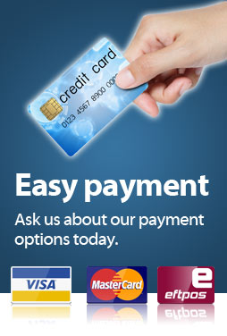 Easy Payment options to make it easy for you.